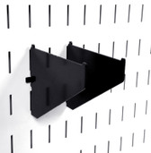 2 Pack of Scratch & Dent Clamp Rack Brackets Clamp Storage For Pegboard Clamp Wall Organizers - 4 Inch Shelf Bracket Pair & Clamp Bracket Pair