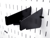 2 Pack of Scratch & Dent Clamp Rack Brackets Clamp Storage For Pegboard Clamp Wall Organizers - 6 Inch Shelf Bracket Pair & Clamp Bracket Pair