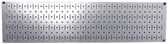 Scratch & Dent 8in T  X 32in W Horizontal Galvanized Metal Pegboard Tool Board Panel