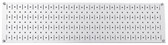 Scratch & Dent 8in T  X 32in W Horizontal White Metal Pegboard Tool Board Panel