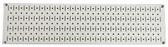 Scratch & Dent 8in T  X 32in W Horizontal Beige Metal Pegboard Tool Board Panel