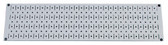 Scratch & Dent 8in T  X 32in W Horizontal Gray Metal Pegboard Tool Board Panel