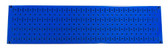 Scratch & Dent 8in T  X 32in W Horizontal Blue Metal Pegboard Tool Board Panel