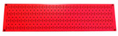 Scratch & Dent 8in T  X 32in W Horizontal Red Metal Pegboard Tool Board Panel
