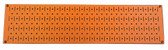 Scratch & Dent 8in T  X 32in W Horizontal Orange Metal Pegboard Tool Board Panel