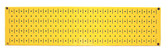 Scratch & Dent 8in T  X 32in W Horizontal Yellow Metal Pegboard Tool Board Panel