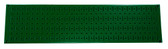 Scratch & Dent 8in T  X 32in W Horizontal Green Metal Pegboard Tool Board Panel