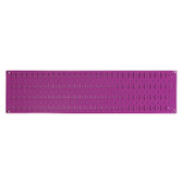 Scratch & Dent 8in T  X 32in W Horizontal Purple Metal Pegboard Tool Board Panel