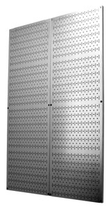 Scratch & Dent 48in Galvanized Steel Metal Pegboard Pack - Two 16in x 48in Pegboard Tool Boards