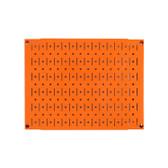 Scratch & Dent 12in Tall x 16in Wide Pegboard Panel - Orange Metal Pegboard