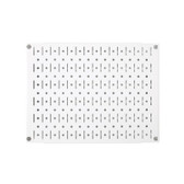 Scratch & Dent 12in Tall x 16in Wide Pegboard Panel - White Metal Pegboard