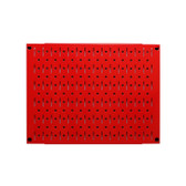 Scratch & Dent 12in Tall x 16in Wide Pegboard Panel - Red Metal Pegboard