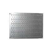 Scratch & Dent 12in Tall x 16in Wide Pegboard Panel - Galvanized Metal Pegboard