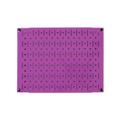 Scratch & Dent 12in Tall x 16in Wide Pegboard Panel - Purple Metal Pegboard