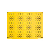 Scratch & Dent 12in Tall x 16in Wide Pegboard Panel - Yellow Metal Pegboard