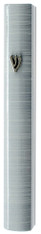 Mezuzah Case   Aluminum 3d Metal Painted   White   10cm