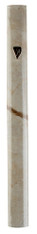 Mezuzah Case | Aluminum 3d Painted | Off-White | 10cm