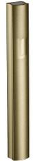 "Mezuzah Case | Aluminum Dotted Gold | ""Shin"" | 10cm"