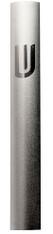 "Mezuzah Case   Aluminum Dotted Gray   ""Shin""   10cm"