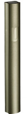 "Mezuzah Case   Aluminum Dotted Green   ""Shin""   10cm"