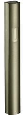 "Mezuzah Case | Aluminum Dotted Green | ""Shin"" | 10cm"