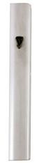 "Mezuzah Case   Aluminum White, Metal   ""Shin""   10cm"