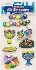 Chanukah: 3-D Chanukah Stickers