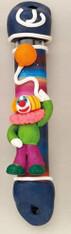 Mezuzah Case   Fimo Clown Design   5'