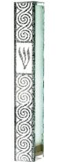Mezuzah Case   Glass Silicon Plug- Ornaments  12cm