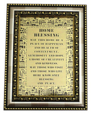 Home Blessing | Framed Metal Plate 14*18cm - English