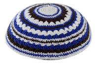 Kipa | Knitted | Blue-Brown-Beige | 18cm