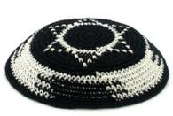 Kipa | Knitted | Black, Magen David | #2