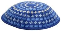 Kipa | Knitted Dmc | Blue W Beige | 2