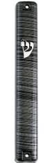 Mezuzah Case | Plastic 3d Metal Painted - Gray | 10cm