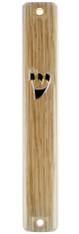 Mezuzah Case | Plastic 3d Metal Painted - Wood | 10cm