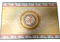Challa Tray | Reinforced Glass Beige/gold | 37*25cm