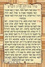 Laminated Poster | Pesichas Haaron | Hebrew