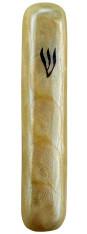 Mezuzah Case | Aluminium, Cream  | 10cm