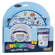 Children's Chanukah 3 Piece Melamine Set