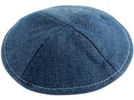 Kipa | Denim with Pin Spot Blue with white stitching | 15Cm