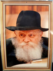 Laminated photo of seventh Rebbe of Chabad | Large | 24.5 x 34.5cm | 1