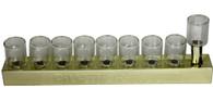 Chanukia | Tin With Glass Cups | 30 Cm