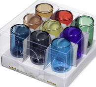 Glass Oil Cups | Assorted Colors (9) | lg. 5 x 2.5 Cm