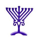 Menorah | Purple Colored Rambam | 17cm