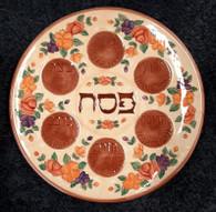 Seder Plate | Ceramic, Brown