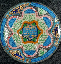 Seder Plate | Glass, hand painted