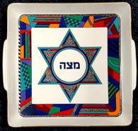 Matza Plate | Ceramic, Star