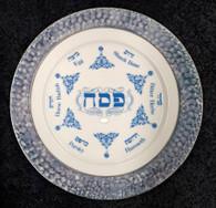 Seder Plate | Ceramic, Elegant blue