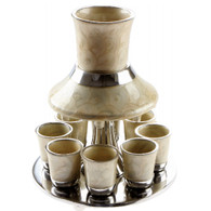 Kiddush Cup | Aluminum Wine Divider With 8 Small Cups | 21Cm