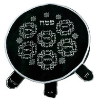 Pesach Cover | Velvet - Blue with Embroidery | 45 Cm
